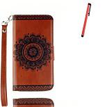 Per A portafoglio / Porta-carte di credito / Con supporto / Con chiusura magnetica / Fantasia/disegno Custodia Integrale CustodiaFiori