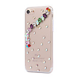 Para Funda iPhone 7 / Funda iPhone 6 / Funda iPhone 5 Diamantes Sintéticos Funda Cubierta Trasera Funda Azulejos Dura Policarbonato Apple