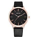 KEZZI Herren Damen Paar Modeuhr Armbanduhr Armbanduhren für den Alltag Quartz / Leder Band Cool Bequem Schwarz Weiß BraunWeiß Schwarz