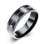 Ring Stainless Steel Fashion Black Jewelry Party Halloween Daily Casual Christmas Gifts 1pc