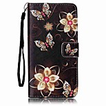 Five Petals  Painted Card Stent PU Leather Mobile Phone Holster Phone Case for Huawei P9 Lite Y5II Y6II