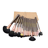 20 Makeup Brushes Set Goat Hair Professional / Portable Wood Face / Eye / Lip Champagne Color