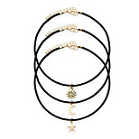 3pcs/set Women's Fashion Luxury European Punk Style Vintage Choker Necklace for Women