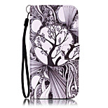 For iPhone 7Plus 7 6s Plus 6Plus 6S 6 SE 5s 5 PU Leather Material Black and White Trees Embossed Protective Cover
