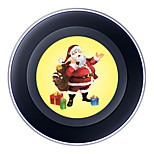 Wireless Charger for Samsung Qi Wireless Charging Pad 5V 2A Christmas Theme for Samsung Galaxy S6 S6 EDGE S7 S7 EDGE HTC 8X LG Nexus4 Nokia Lumia 920