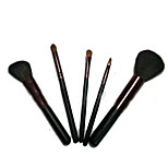 5 Makeup Brushes Set Goat Hair Portable Wood Face NFSS