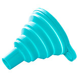 Silicone Folding Funnel Funnel Portable Lovely Beautiful (Random Colours)