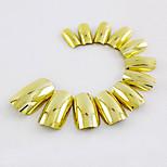 70Pcs Golden Nail Strips Fashion Atmosphere Safe Easy To Operate 1Set
