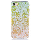 Gradient Cabbage Pattern Tpu Material Highly Transparent Phone Case For iPhone 7 7 Plus 6s 6 Plus SE 5s 5