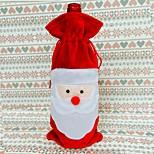 vermelho tampa de garrafa de vinho sacos de Natal mesa de jantar decoração do partido decorações Papai Noel