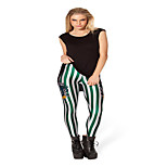 Striped Pattern Printing Leggings Female Tide Pants