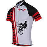 Sports Cycling Jersey Men's Short Sleeve BikeBreathable  Quick Dry  Anatomic Design  Ultraviolet Resistant  Front Zipper  Back