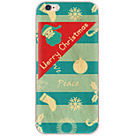 Christmas Cartoon Pattern PC Hard Back Cover Case For Apple iPhone 7 Plus iPhone 7 iPhone 6s Plus 6 Plus iPhone 6s 6 iPhone SE 5s 5