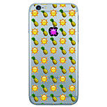 Pour Coque iPhone 7 / Coque iPhone 6 / Coque iPhone 5 Ultrafine / Motif Coque Coque Arrière Coque Fruit Flexible TPU AppleiPhone 7 Plus /