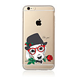 Dog and rose Pattern TPU Soft Case Cover for Apple iPhone 7 7 Plus iPhone 6 6 Plus iPhone 5 5C iPhone 4