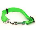 Perros Cuello Ajustable/Retractable Sólido Verde Vaqueros