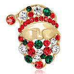 May Polly   Santa all-match Europe diamond brooch