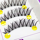 Eyelashes lash Full Strip Lashes Eyes Crisscross / The End Is Longer Lifted lashes Handmade Fiber Transparent Band 0.10mm 12mm