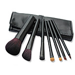 7 Makeup Brushes Set Goat Hair Professional / PortablePlastic Handle Face/Eye/Lip