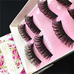 Eyelashes lash Others Eyes Colorful Volumized Handmade Fiber Black Band 0.10mm 15mm