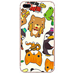 Para Funda iPhone 7 / Funda iPhone 6 / Funda iPhone 5 Ultrafina / Diseños Funda Cubierta Trasera Funda Dibujos Suave TPU AppleiPhone 7