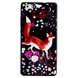 For HUAWEI P8Lite Y5II Y6II Case Cover Fox Pattern Black TPU Material Phone Shell