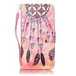 For iPhone 7Plus 7 6s Plus 6Plus 6S 6 SE 5s 5 PU Leather Material Orange Dream Catcher Embossed Protective Cover