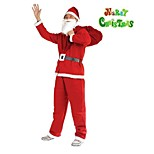 Preheat Christmas Sale! Christmas Santa Claus Costume Five Sets Of Non-Woven Clothes Male Party Performance Apparel