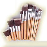 11 Blush Brush / Eyeshadow Brush / Brow Brush / Eyeliner Brush Professional / Travel / Full Coverage Wood