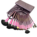20 Makeup Brushes Set Goat Hair Professional / Portable Wood Face / Eye / Lip Purple