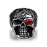 Quality titanium High steel rings jewelry birthday present street fashion skull Men 316L steel ring