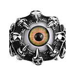 New Design Retro Punk Style Men's Stainless Steel Ring Eyes Super Cool Street Explosion Models High Quality Gothic