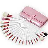 20 Makeup Brushes Set Goat Hair Professional / Portable Wood Face/Eye / Lip