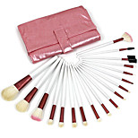 18 Makeup Brushes Set Goat Hair Professional / Portable Wood Face / Eye / Lip