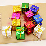 12PCS  The Christmas Tree Accessories Product Laser Small Gift Bag  Six Kinds Of Color