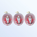 Christmas Decoration Ball Red Colour 3pcs