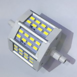 R7S 78mm 24x 5730SMD 6W Warm White / Cool White 600LM 220Beam Horizontal Plug Lights  Flood Light AC85-265V