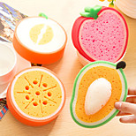 Cleaner Sponge Eraser Fruit Shape Lovely Tool Scouring Pad Rag (Random  Colours)