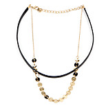 Women's Fashion Luxury European Punk Style Vintage Shining Glitter Choker Necklace for Women