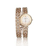 Women's Fashion Watch Bracelet Watch Quartz Water Resistant / Water Proof Alloy Band Charm Casual Elegant Gold Brand
