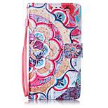 Für Geldbeutel / Kreditkartenfächer / Flipbare Hülle / Muster Hülle Handyhülle für das ganze Handy Hülle Blume Hart PU - Leder Huawei