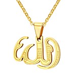 Men's Pendant Necklaces Jewelry Party/Birthday/Daily/Casual Stainless Steel Gold Plated Golden 1pc Gift