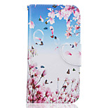 Peach Pattern Leather PU Leather Material Leather Phone Case for  Motorola Moto G4 Plus / MOTO G4