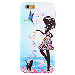 For iPhone 6 Case / iPhone 6 Plus Case / iPhone 5 Case Pattern Case Back Cover Case Sexy Lady Soft Silicone AppleiPhone 6s Plus/6 Plus /