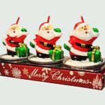 Christmas Candle Cute Santa Claus Shape 3Pcs