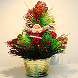 Mini Christmas Tree Pinewood Ball Ornaments