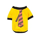 Print Tie Gentleman Dog Clothes Puppy T-Shirt Cat Clothing Pet Shirt Dogs Vest Summer Autumn Jacket Lovely Costume