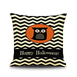 Halloween Night Owl Square Linen  Decorative Throw Pillow Case Kawaii Cushion Cover