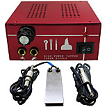 Solong Tattoo Professional Dual Machines Tattoo Power Supply  clip cord foot pedal P131-1