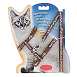 Pet Kitten Cat Nylon Lead Leash Harness Safety Belt Rope Adjustable Coffee